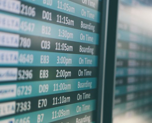 Pantalla aeropuerto